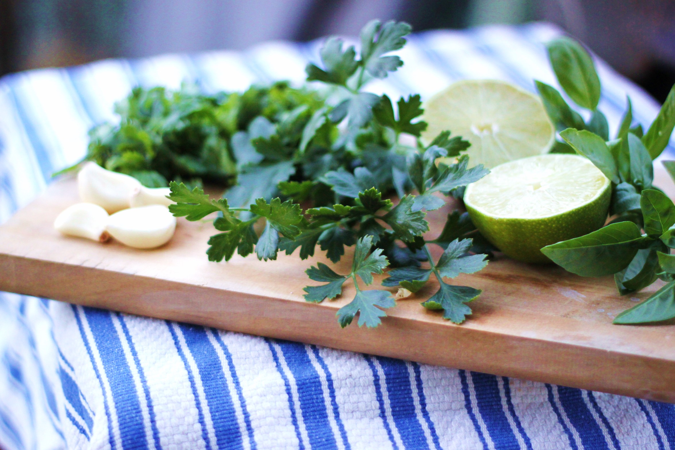 Chimichurri is originally an Argentinian herb based marinade and sauce ...