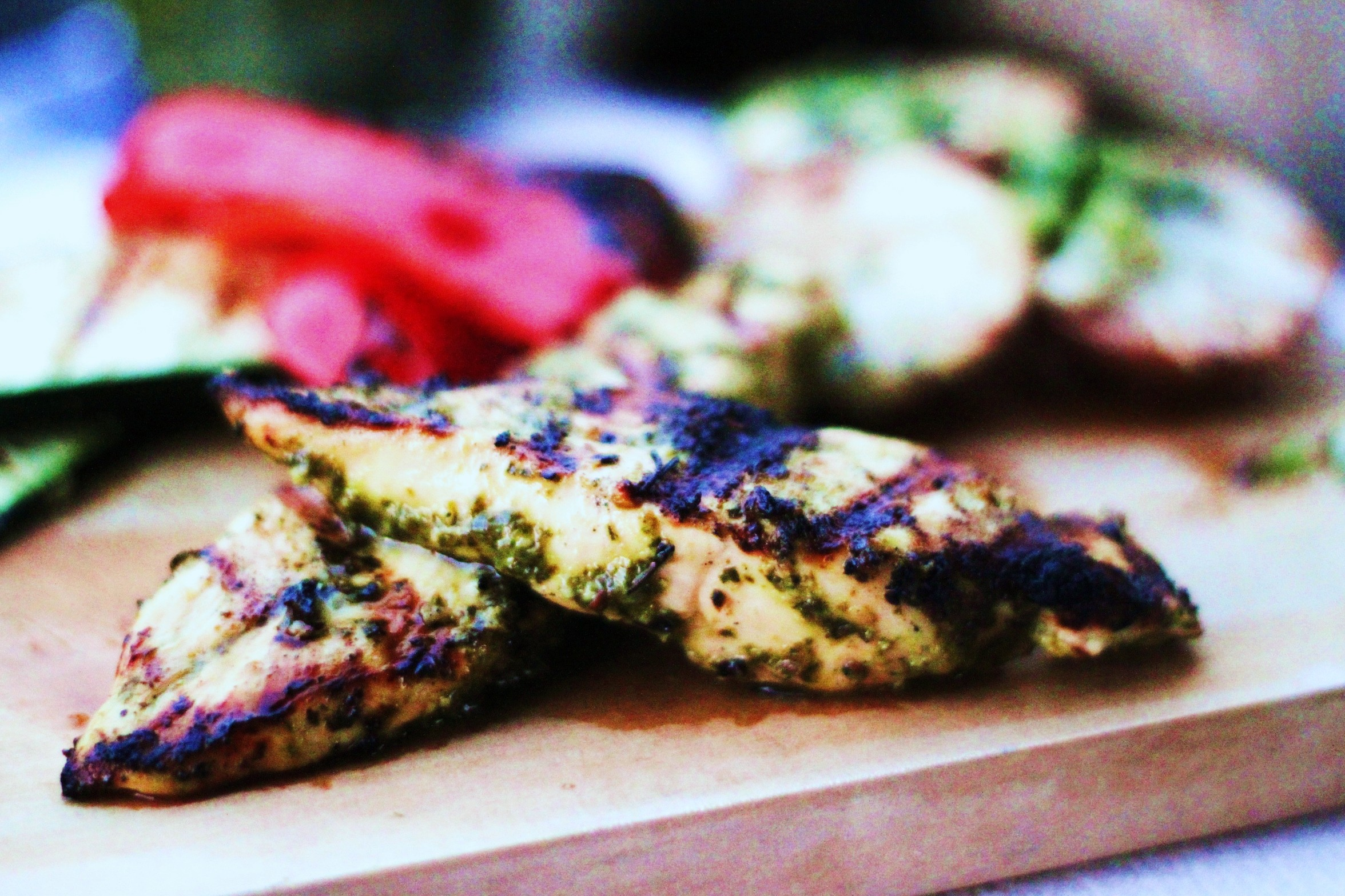 Dinner Last Night – Chimichurri Grilled Chicken