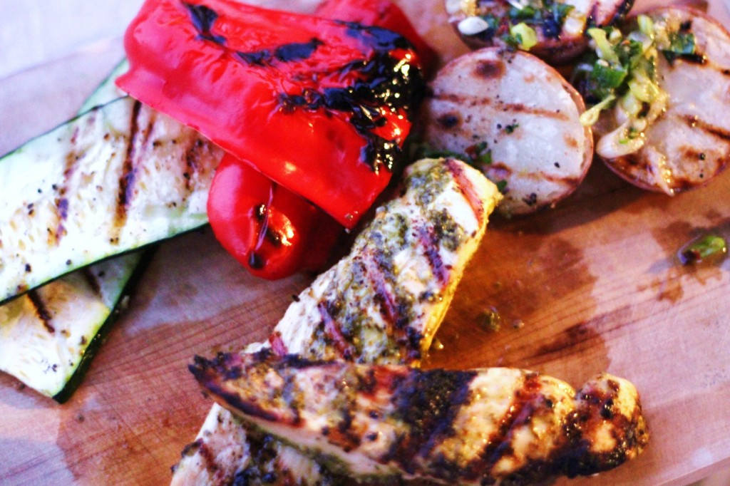 Here is the beginning of the grilled Namma Potatoes (click for full ...