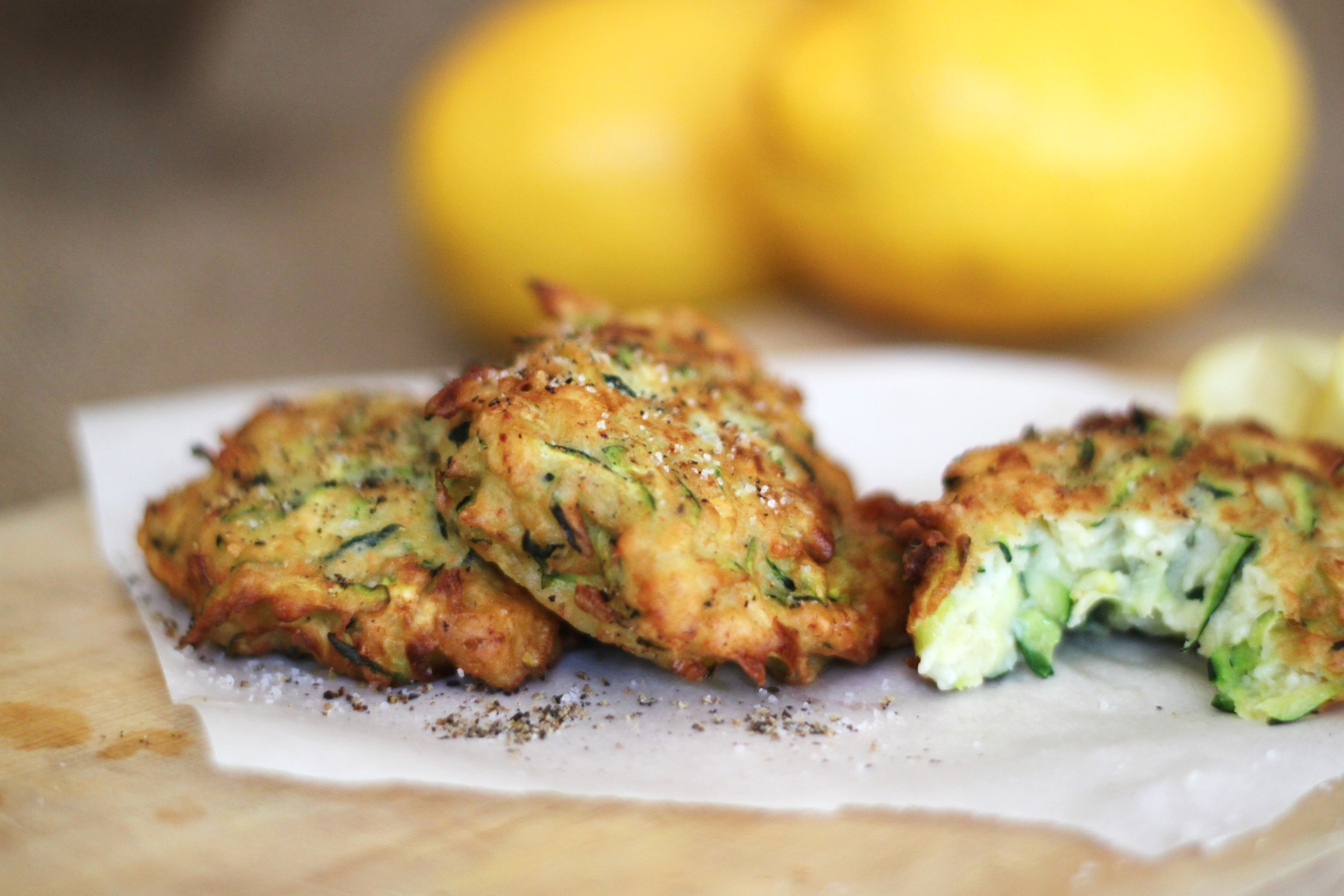Zucchini Ricotta Fritters | jessica burns
