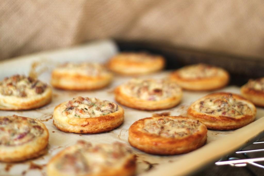 mushroom and sausage vol au vents