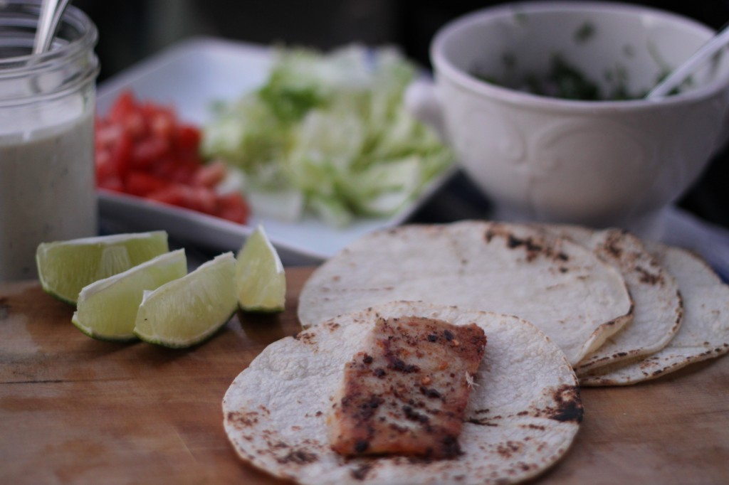 grilled fish tacos with baja yogurt dill sauce