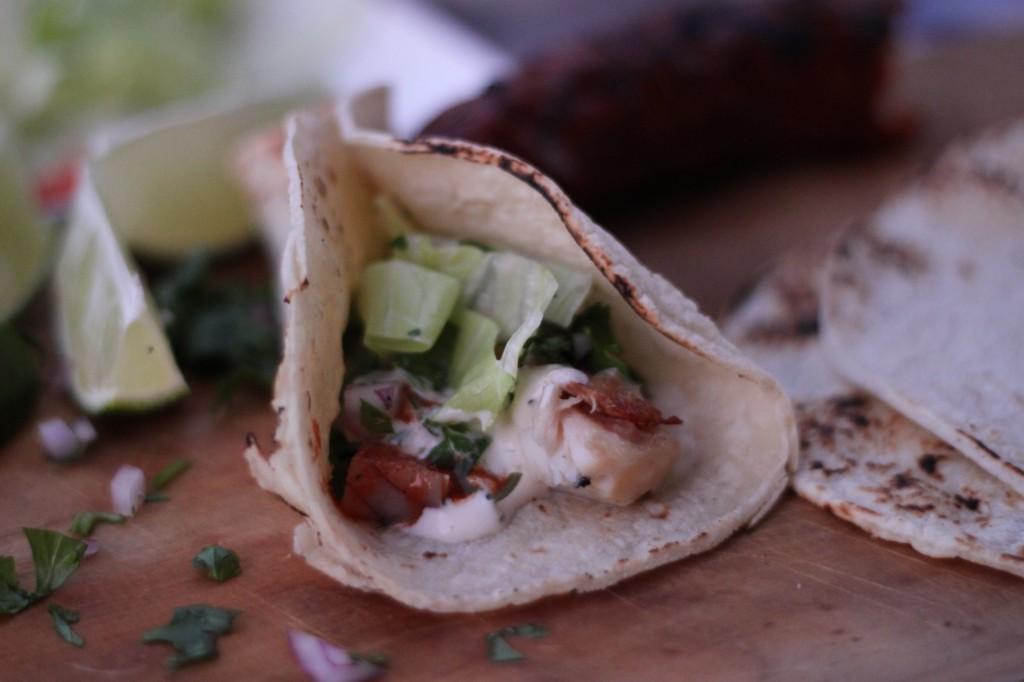 grilled fish tacos with baja yogurt dill sauce