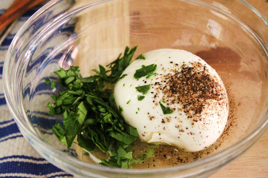 burrata in a jar