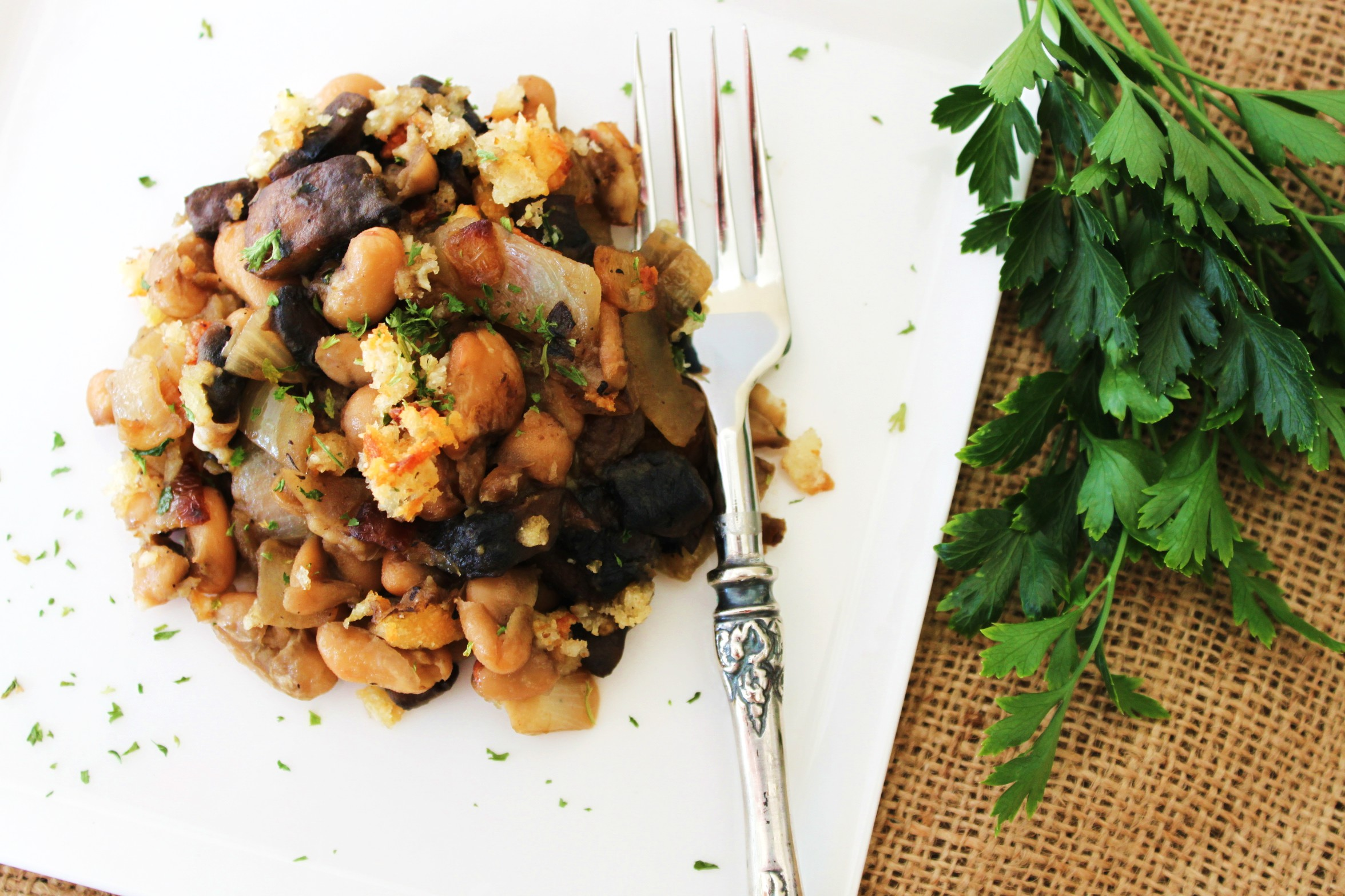 Mushroom and Onion Cassoulet