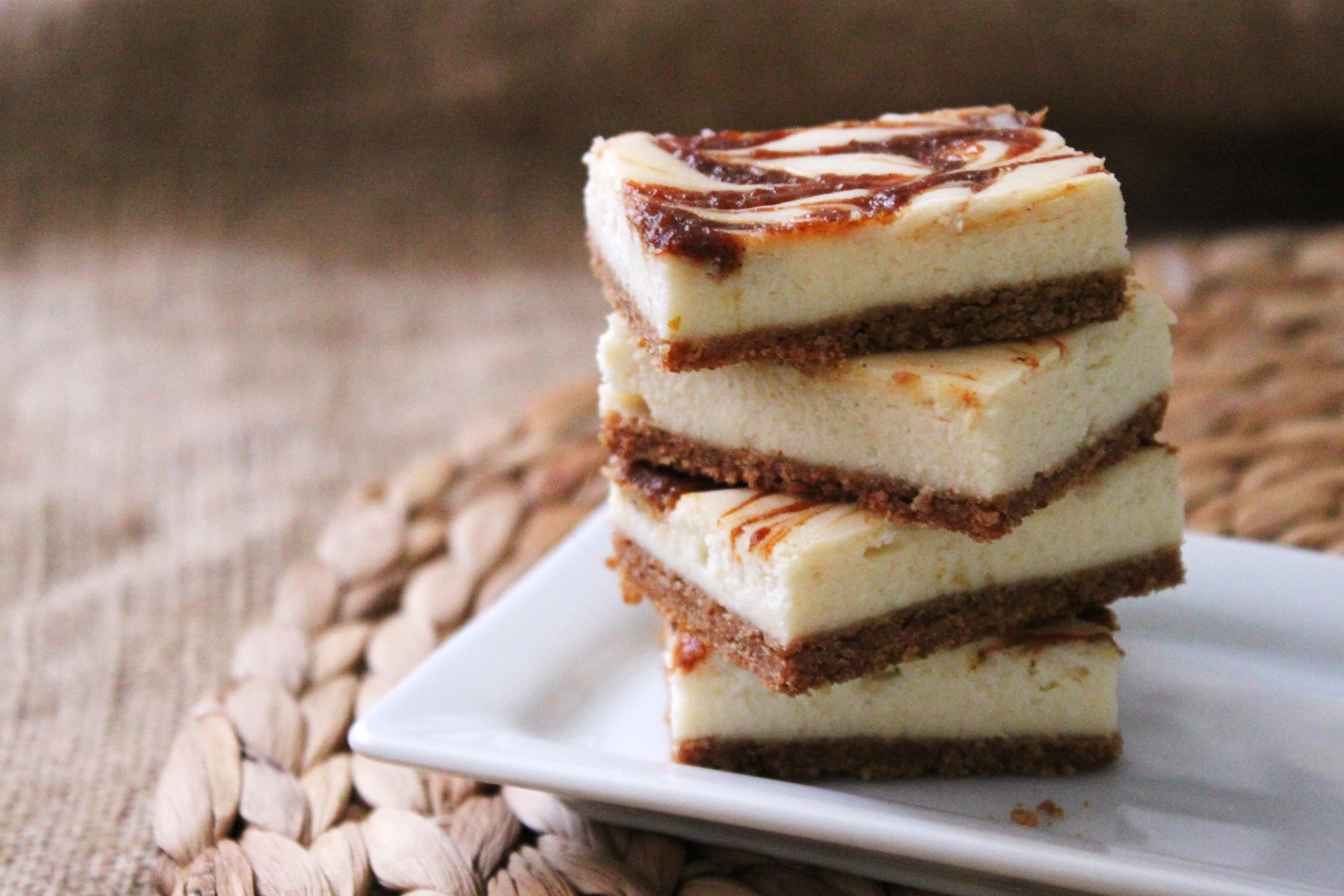pumpkin swirl cheesecake squares