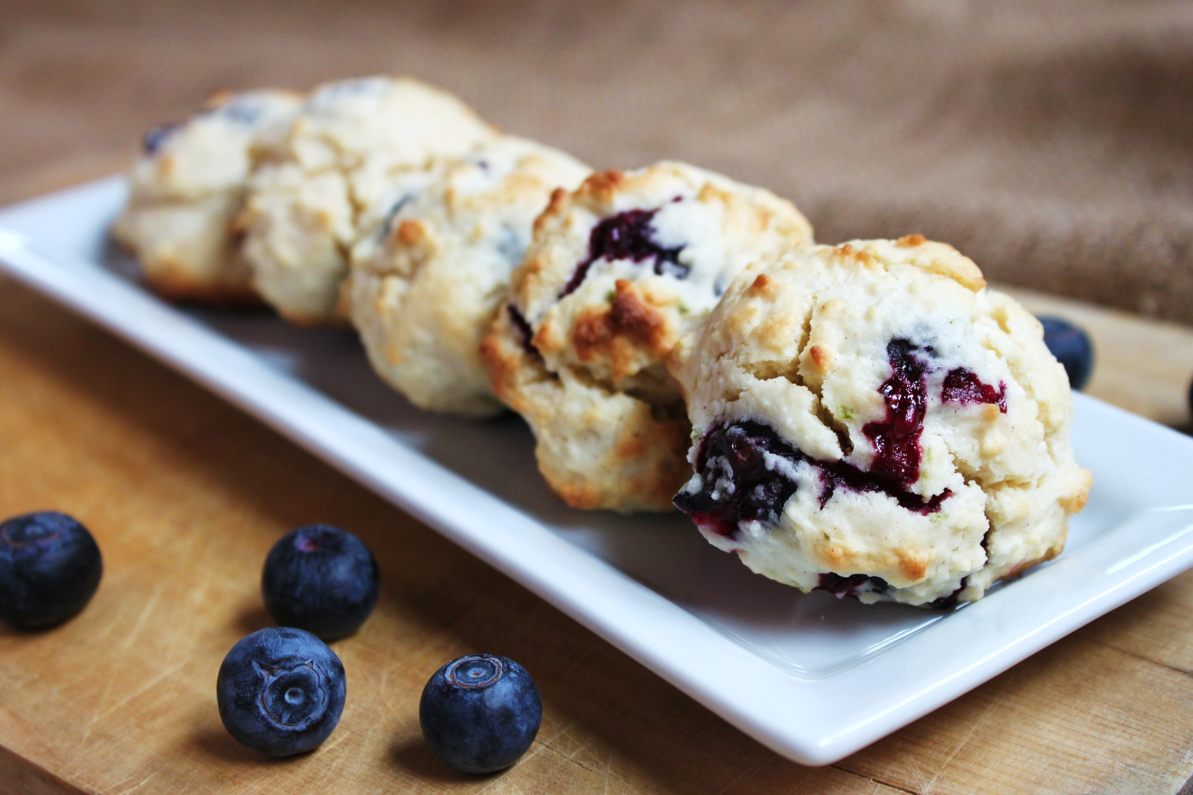 Mini Blueberry Lime Scones