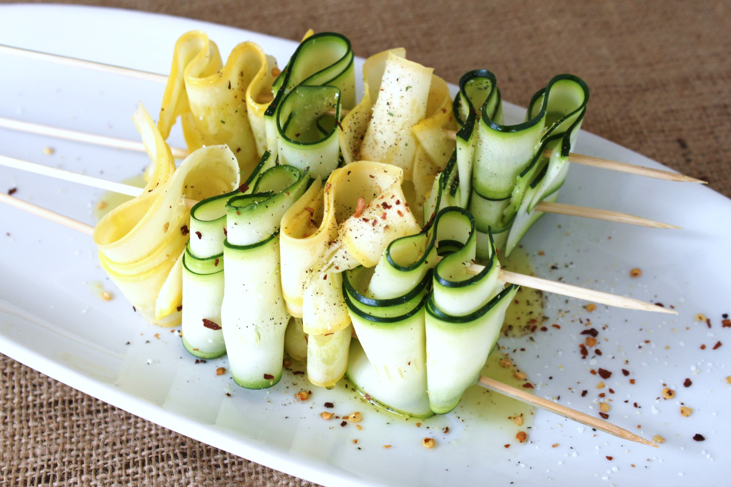 Grilled Zucchini and Summer Squash Ribbons | jessica burns