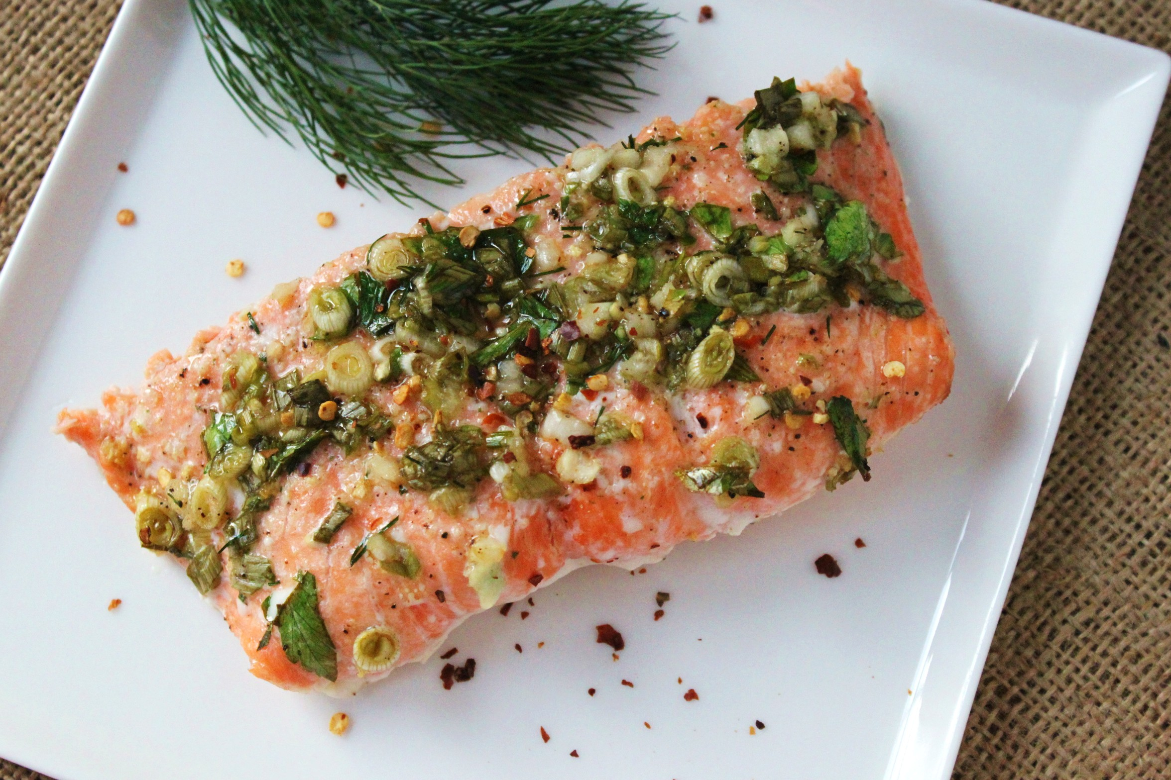 ... sauce sauce slow roasted salmon with spring herb sauce roasted salmon