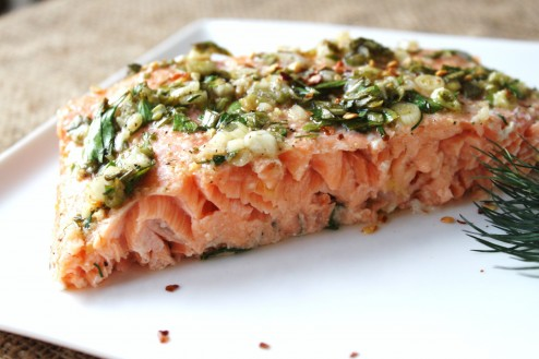 slow roasted herb salmon