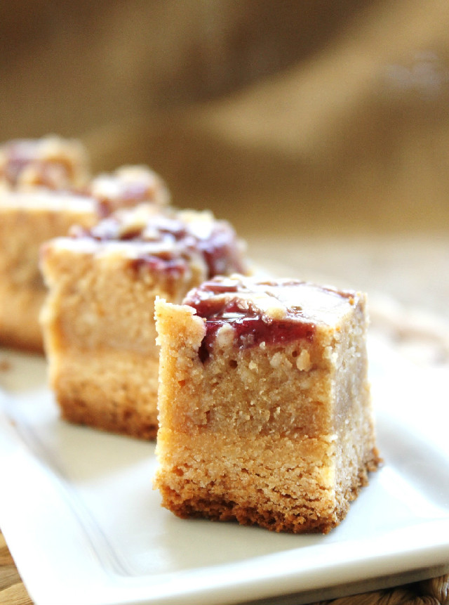 Peanut Butter & Jelly Cheesecake Bites