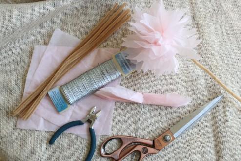 pink paper peonies