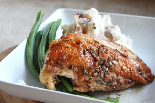 garlic rosemary glossed chicken