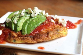 easy avocado & salsa fritatta