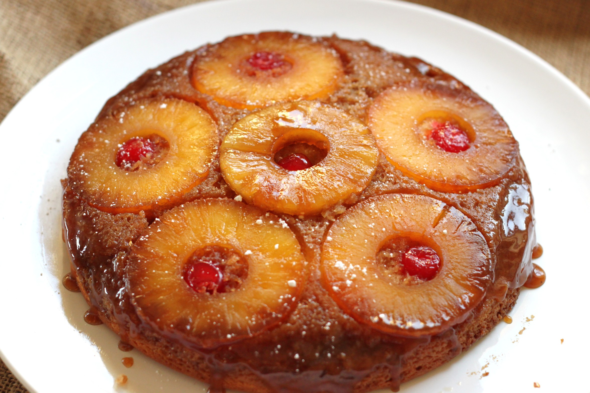 Vintage Bourbon Caramel Pineapple Upside-down Cake | jessica burns