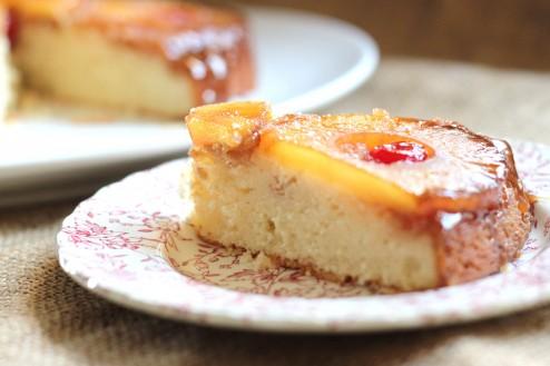 Vintage Bourbon Caramel Pineapple Upside-down Cake