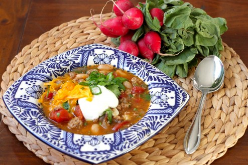 turkey & white bean chili