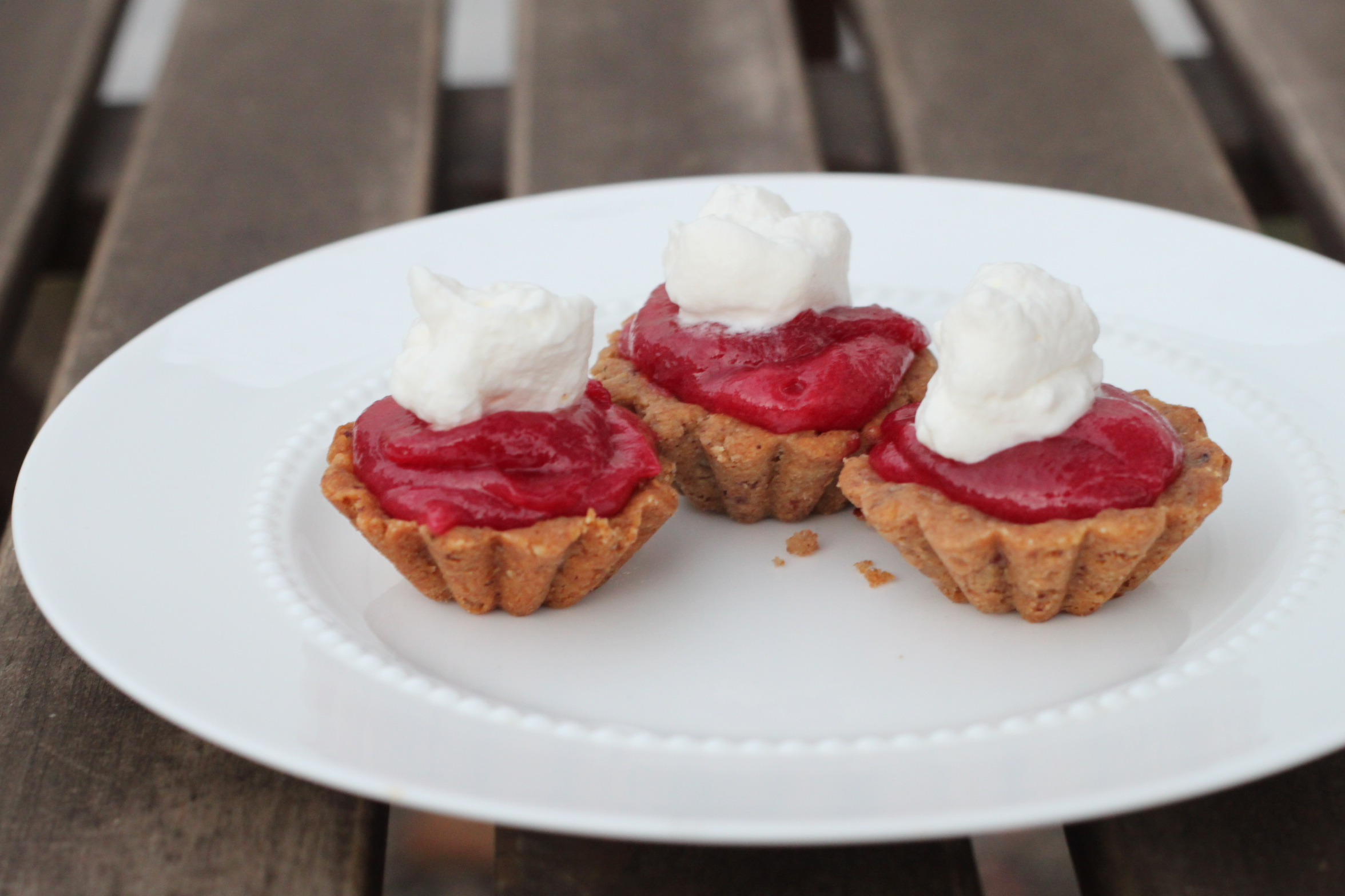 Cranberry Orange Curd Tartlets