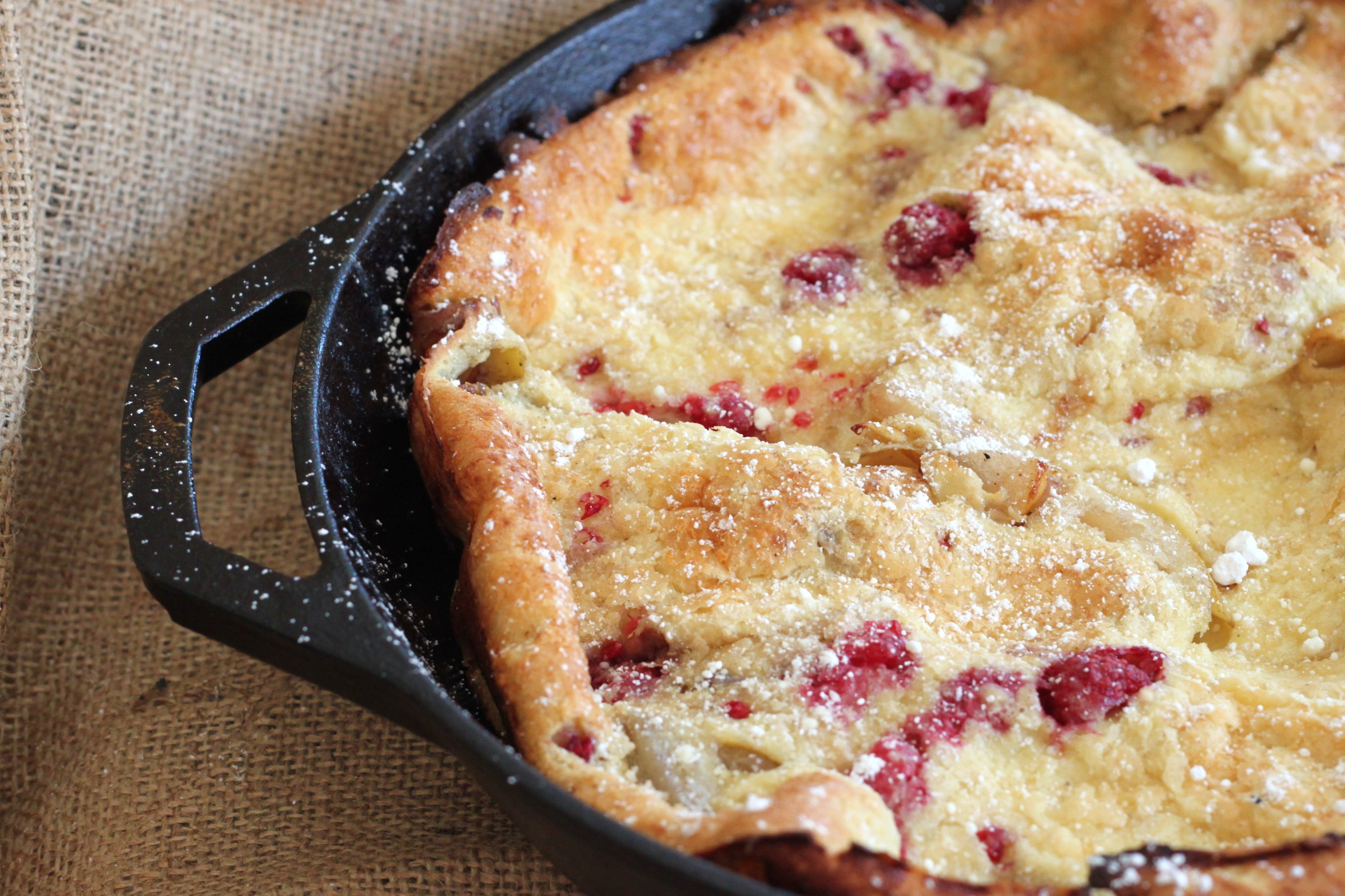 Pear & Raspberry Dutch Baby