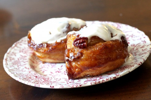 glazed pecan morning buns