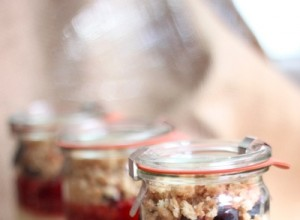 berry cheesecake in a jar