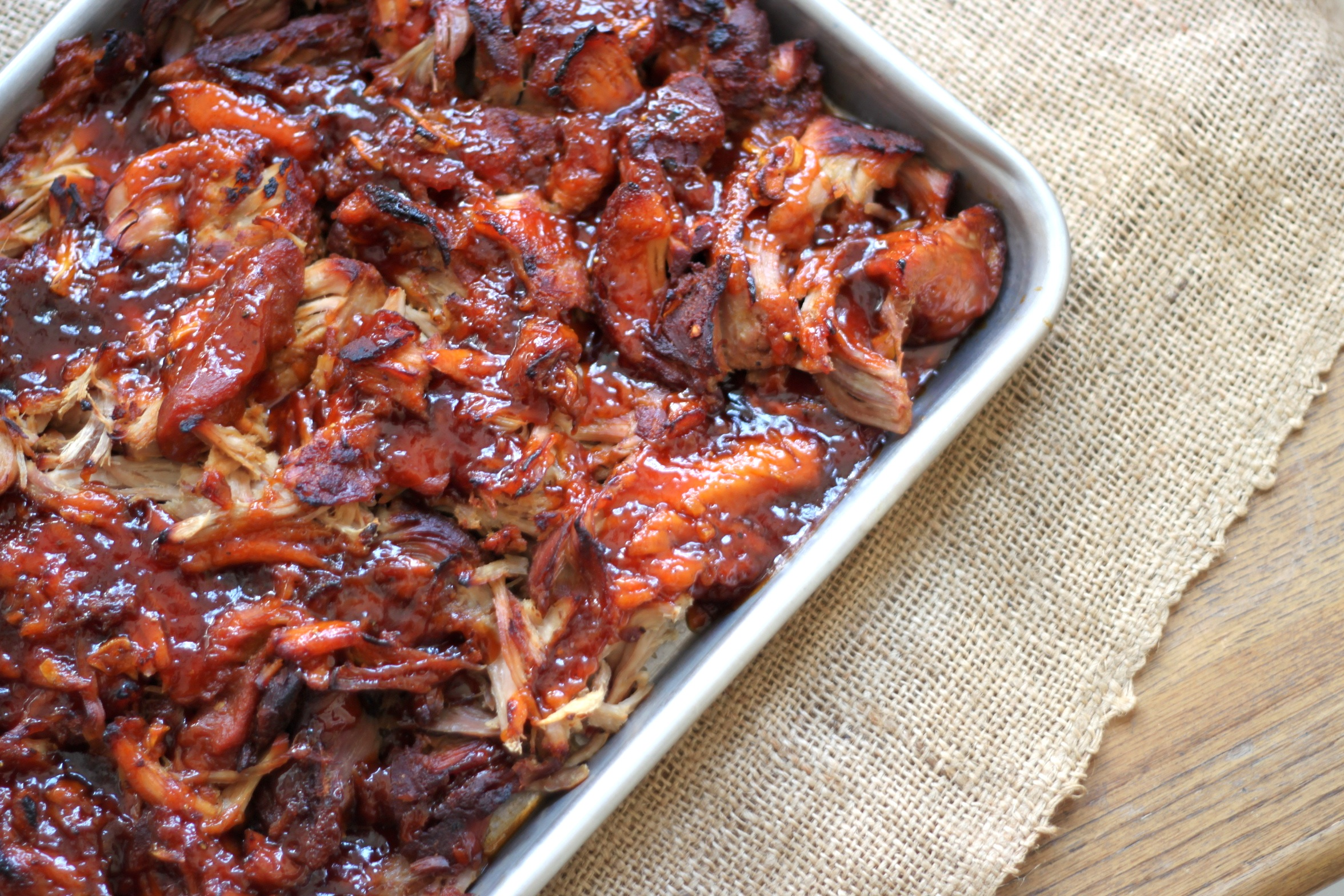 Pulled Pork with Apricot Molasses Barbecue Sauce