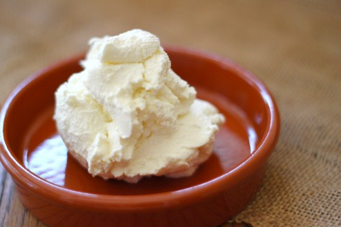 fresh homemade ricotta