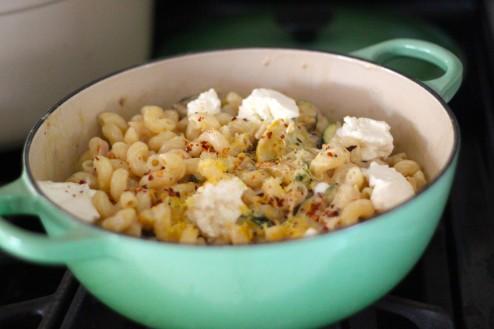 Homemade Ricotta, Lemon & Summer Squash Cavatappi