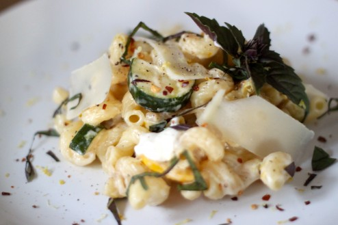 Homemade Ricotta, Lemon & Summer Squash Cavatappi