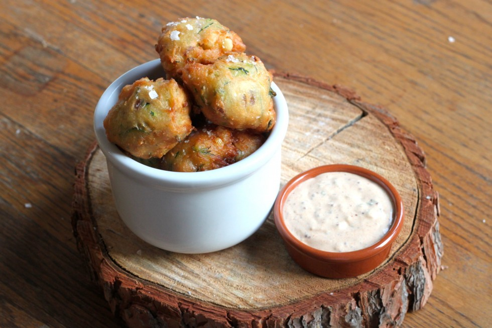 Corn Fritters with Piment D'Espelette Remoulade