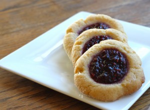 berry jam thumbprint cookies
