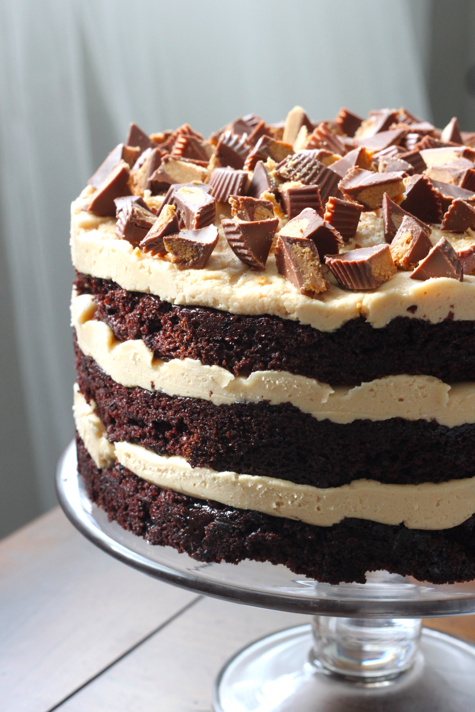 Johnny's Chocolate Peanut Butter Layer Cake