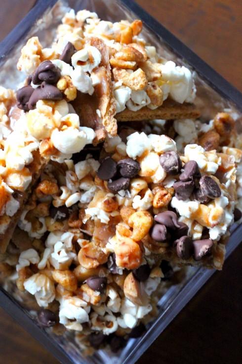 Macadamia Toffee Popcorn Bark
