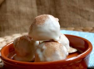 Cinnamon Sugar Churro Cake Balls