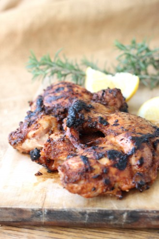 Smoky 6 Spice Grilled Chicken Thighs