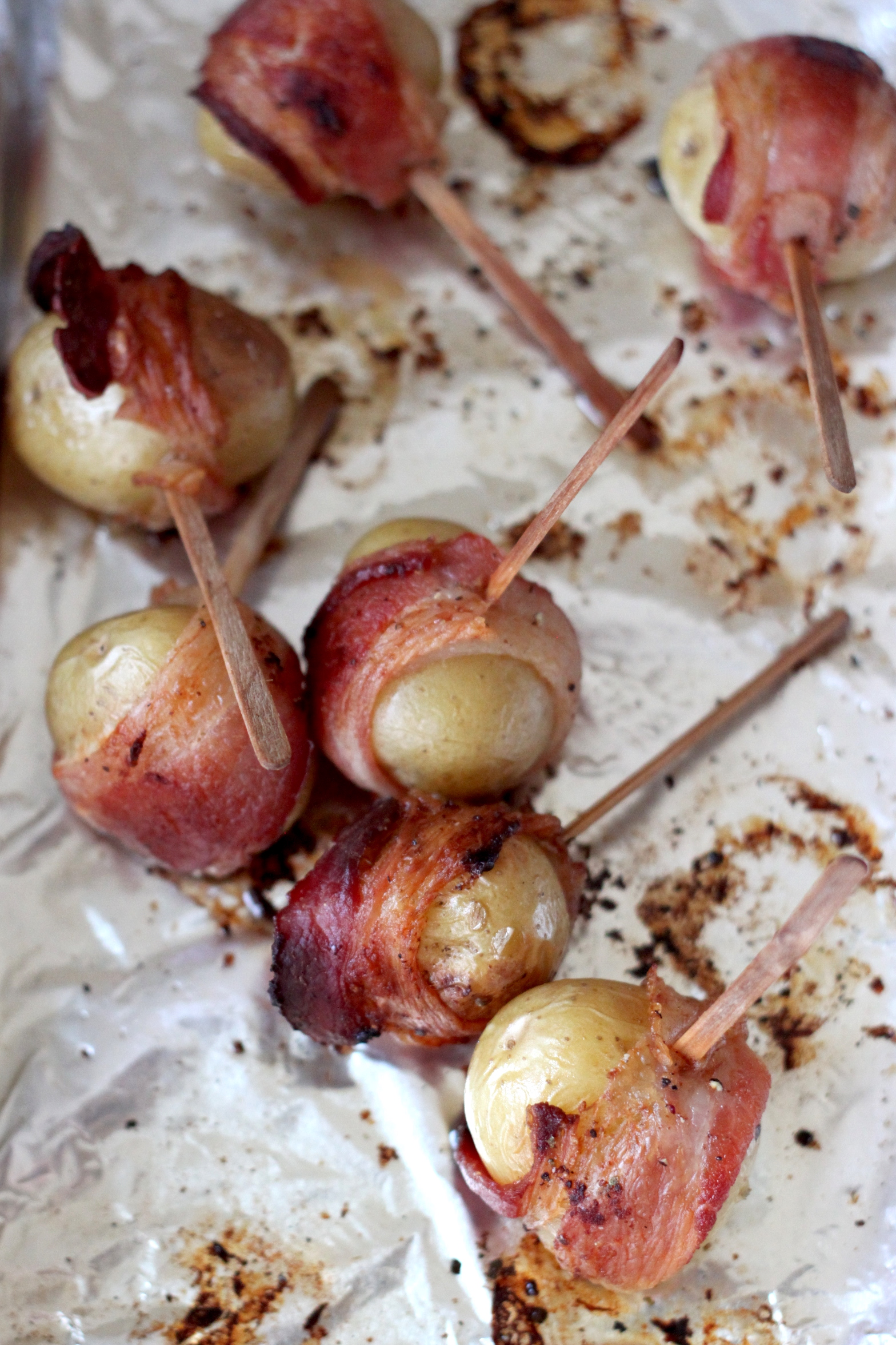 Bacon Wrapped Baby Yukon Potatoes with Horseradish ...