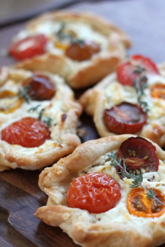 Heirloom Tomato & Goat Cheese Crostata