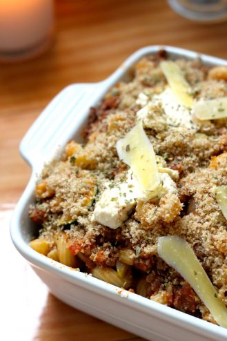 Fresh Ricotta & zucchini pasta bake