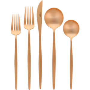 Brushed Copper Moon Cutlery