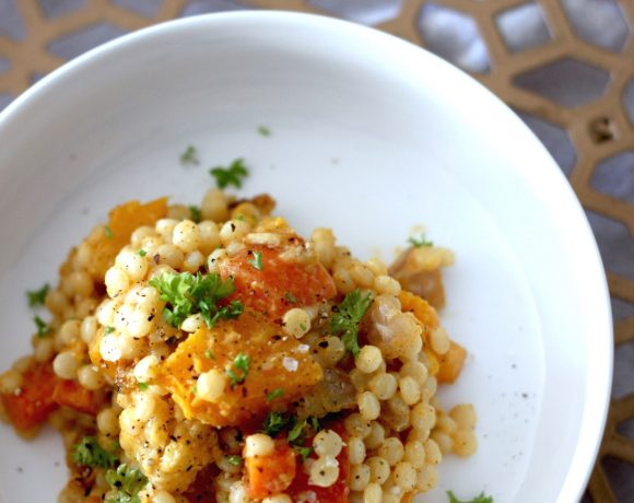 Curried Israeli Couscous with Roasted Vegetables