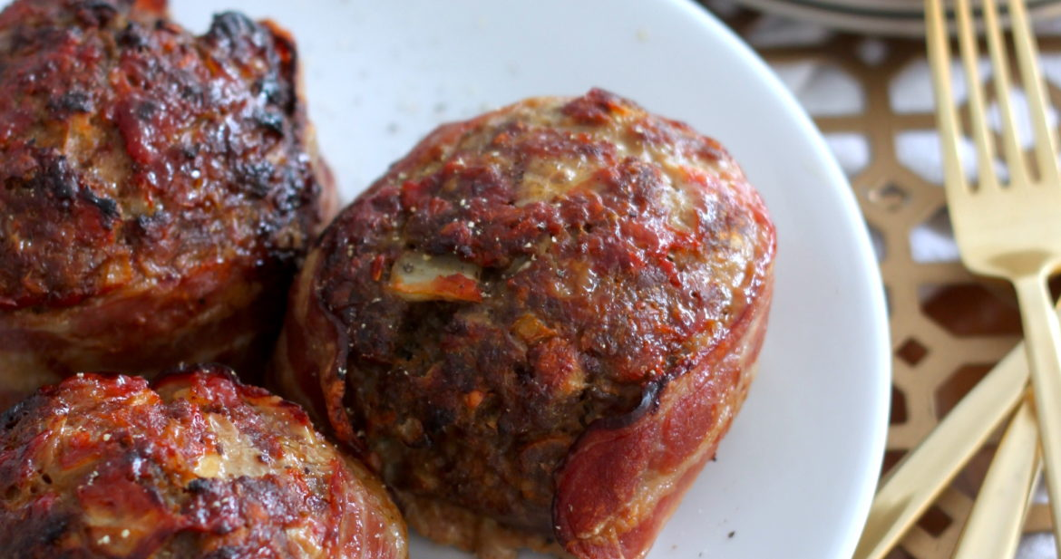 Bacon Wrapped Meatloaf Balls