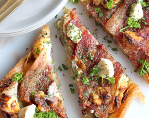 Potato, Bacon & Caramelized Onion Tart