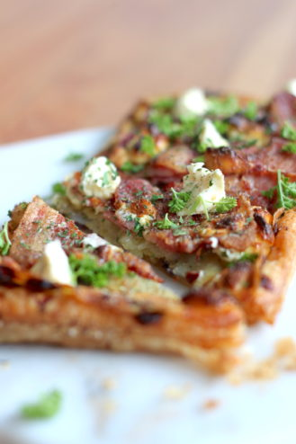 Potato, Bacon & Caramelised Onion Tart